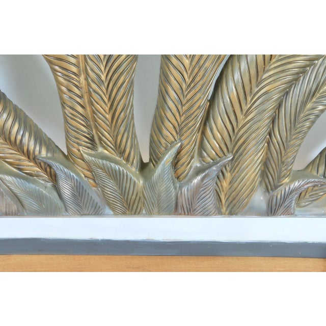 Hollywood Regency Fiber Glass Headboard For Sale - Image 12 of 13