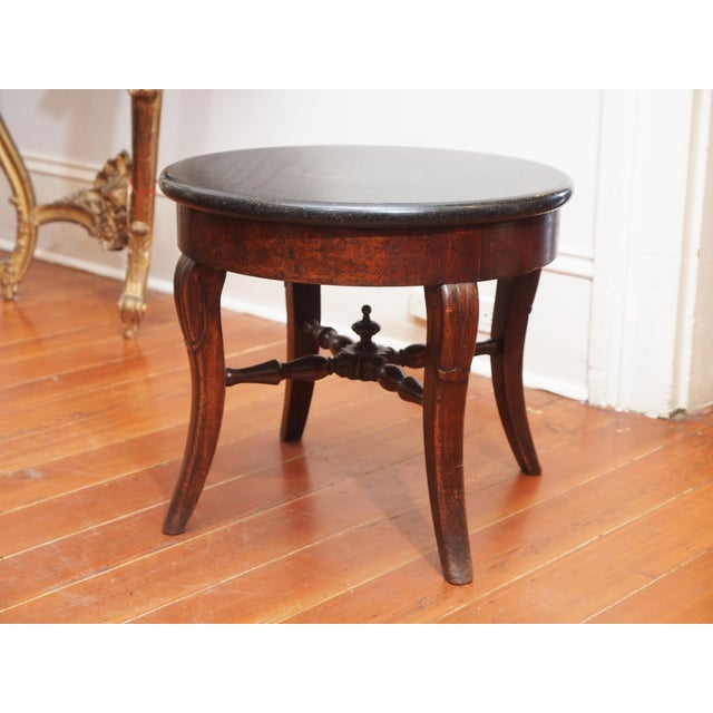 French Round Marble Top Side Table For Sale - Image 9 of 9