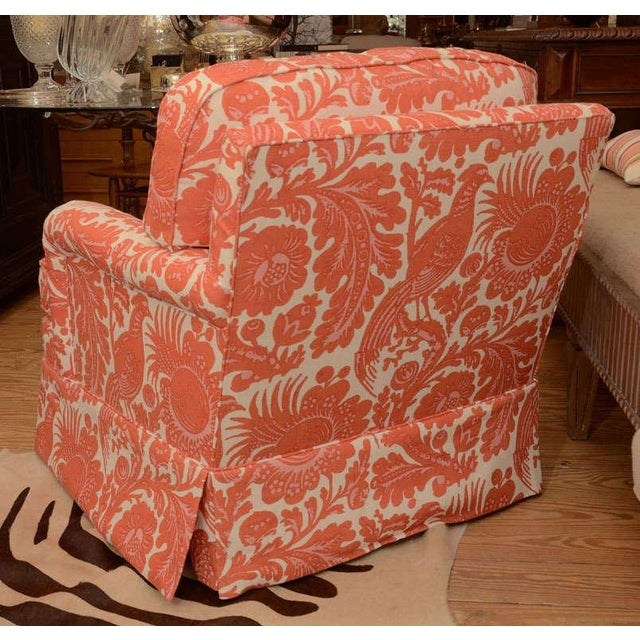 Classic English Style Club Chair in Scalamandre - Image 6 of 6