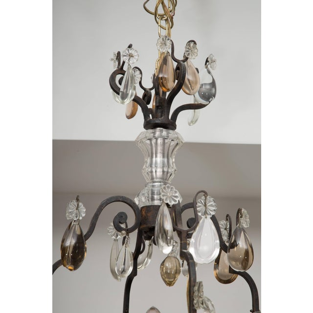 French Eight-Light Chandelier With Multi-Form Pendants For Sale - Image 4 of 8