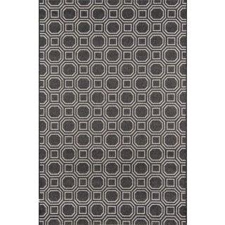 "Erin Gates Downeast Camden Charcoal Machine Made Polypropylene Area Rug 6'7"" X 9'6"" For Sale"