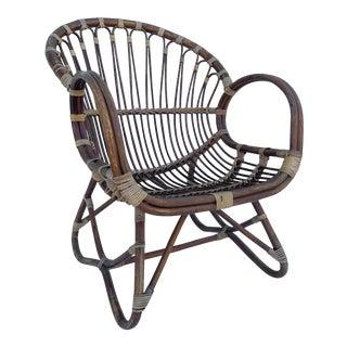 Vintage Modern Boho Side Chair For Sale