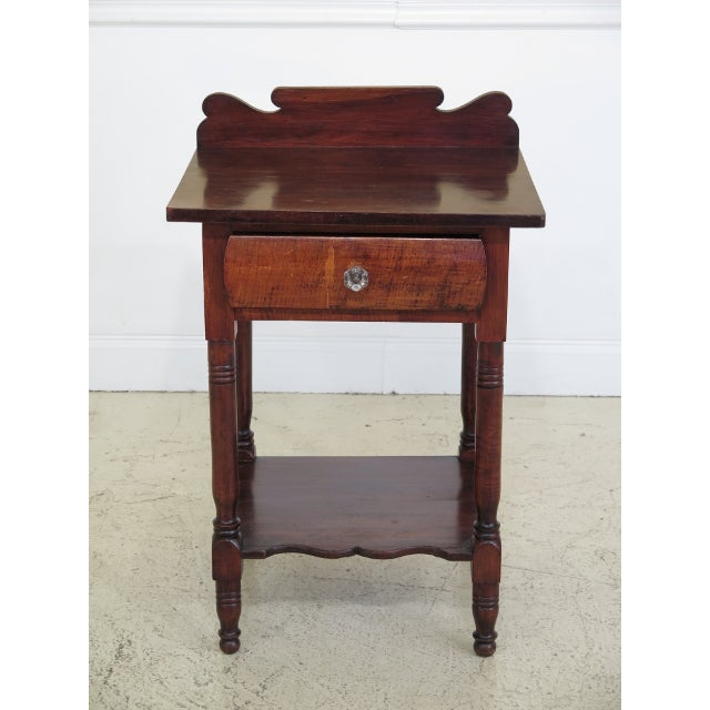 Antique Century Sheraton Style 1 Drawer Work Table Washstand For Sale - Image 13 of 13