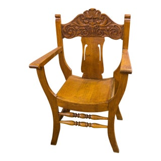 Medieval Revival Mahogany Side Chair
