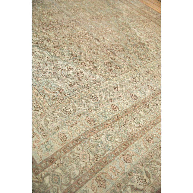 "Pink Vintage Distressed Bibikabad Carpet - 9'5"" X 18'2"" For Sale - Image 8 of 13"