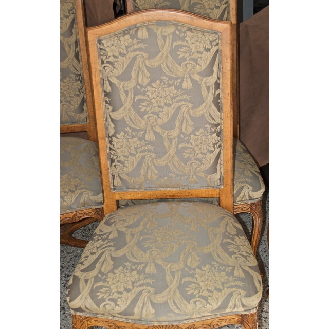 Fabric 1990s Vintage Fairfield Dining Chairs - Set of 6 For Sale - Image 7 of 12