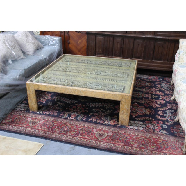 Anglo-Indian Antique Indian Architectual Fragment Custom Coffee Table For Sale - Image 3 of 8