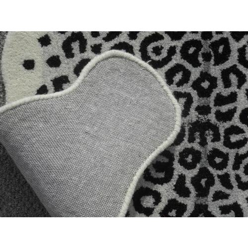 Modern Hand Tufted Leopard Skin Shaped Wool Rug - 4′6″ × 6′ - Image 4 of 5