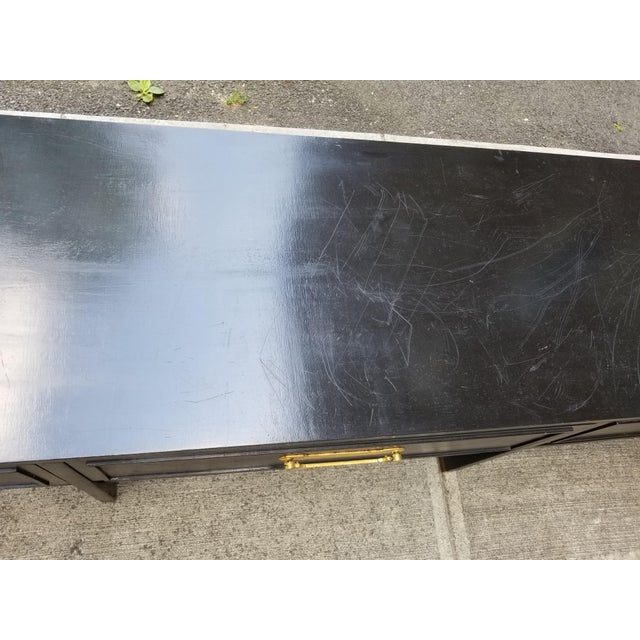 Vintage America of Martinsville Painted Hollywood Regency Style Console For Sale - Image 5 of 11