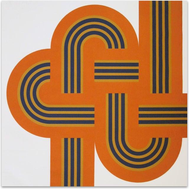 """Bold Orange """"Weave"""" Large-Scale Supergraphic Art - Image 1 of 2"""
