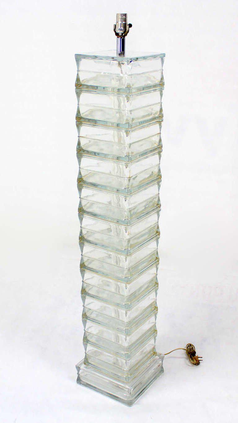 glass block furniture. Italian Glass Block, Mid-Century Modern Floor Lamp - Image 9 Of Block Furniture S