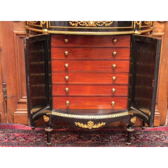 Asian Exceptional Antique Black Lacquer Chinoiserie Commode, Circa 1890-1900. For Sale - Image 3 of 7