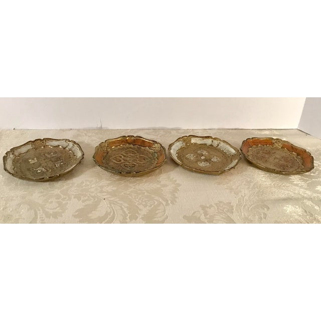Italian Wooden Gold Florentine Coasters - Set of 4 For Sale In Dallas - Image 6 of 11