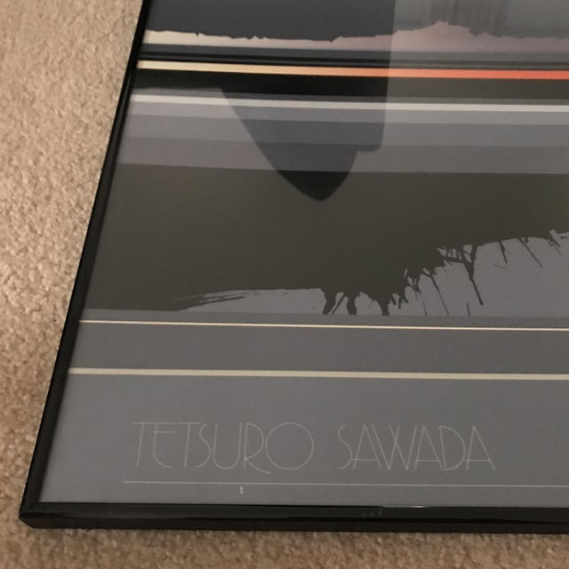 1985 Tetsuro Sawada Oblique Black Framed Art Print For Sale - Image 4 of 9