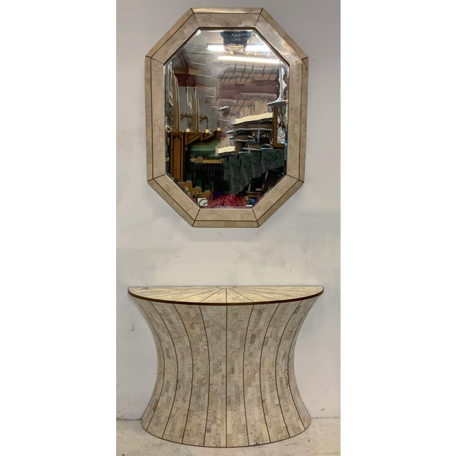 White Maitland-Smith Tasselated Console and Mirror For Sale - Image 8 of 9