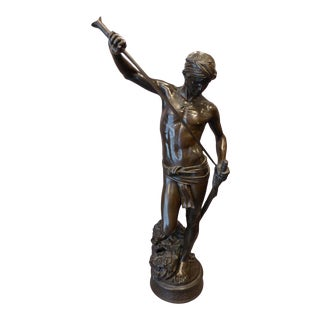 19th Century Figural Bronze Sculpture by Antonin Mercie For Sale