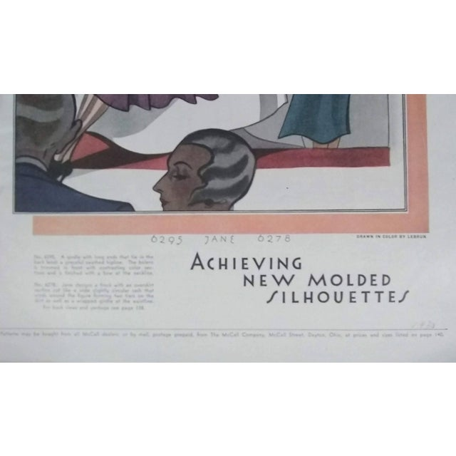 Wood 1930 McCalls Dressmaking Pattern Advertisements- Pair For Sale - Image 7 of 8