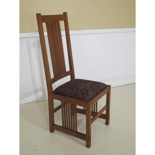 Stickley Stickley Mission Oak Arts & Crafts Dining Chairs- Set of 6 For Sale - Image 4 of 12