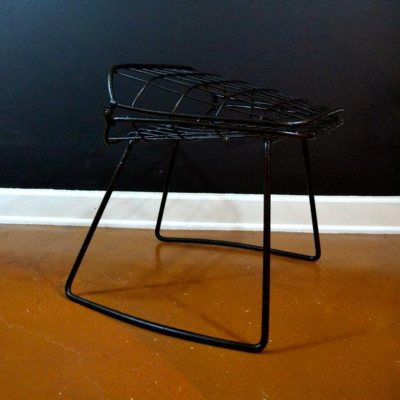 Vintage Danish Modern Wire Side Chair - Image 9 of 10