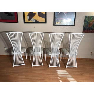 1990s Vintage White Shaver Howard Style Dining Chairs- Set of 4 Preview