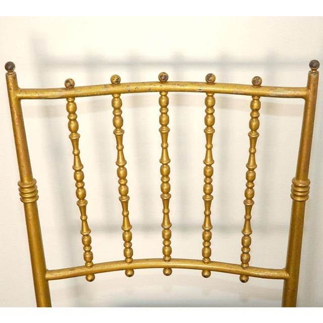 Chiavari Metal Chiavari Chairs - Set of 6 For Sale - Image 4 of 8