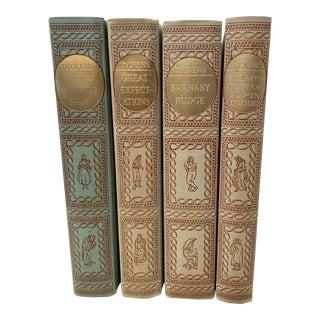 Vintage Charles Dickens Collection Heritage Press Classic Books- Set of 4 For Sale
