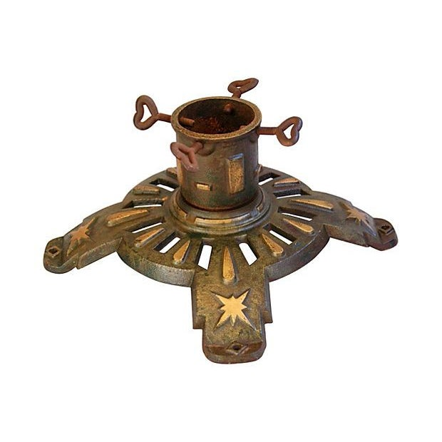 Antique Cast Iron Flag /Christmas Tree Stand - Image 5 of 5