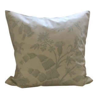 "Brunschwig Et Fils Green Botanical Toile Pillow Cover - 18""x18"" For Sale"