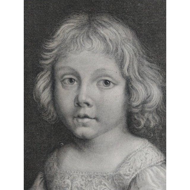 Portrait of François Joseph de Lorraine, Duke of Guise and Alençon, after Paillet: a child seen bust-length, slightly...
