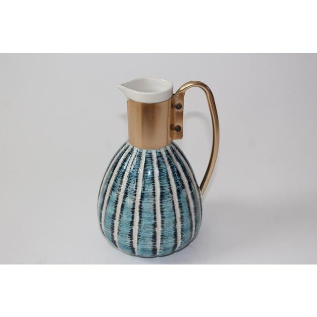 1957 Vintage C Miller Mid Century Ceramic Warming Carafe Decanter - Image 2 of 10