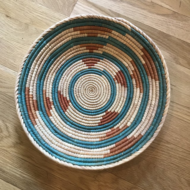 1970s 1970s African Flat Baskets - Set of 3 For Sale - Image 5 of 6