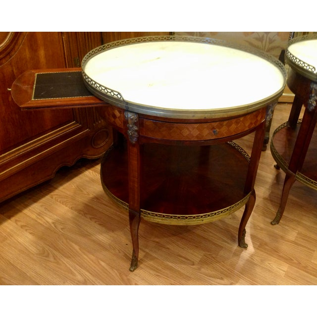 Pair of Fine French Bouillotte Tables For Sale In West Palm - Image 6 of 13