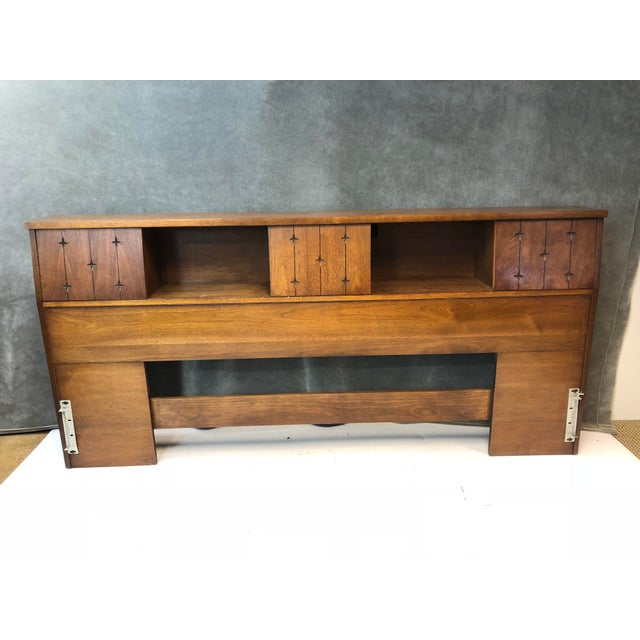 Mid Century Modern King Size Headboard - Saga by Broyhill For Sale - Image 13 of 13