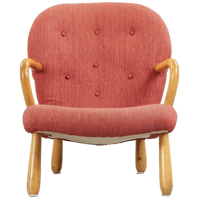 """1940s 1940s """"Clam"""" Easy Chair Designed by Philip Arctander, Denmark For Sale - Image 5 of 5"""