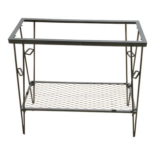 Mid Century Modern Black Iron Plant Stand For Sale