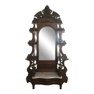 1900s Victorian Wooden Etagere For Sale