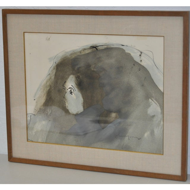 Abstract Figure Watercolor by John Young - Image 3 of 6