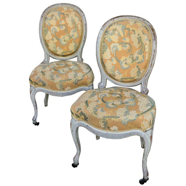 Pair of Louis XV Style Side Chairs For Sale - Image 11 of 11