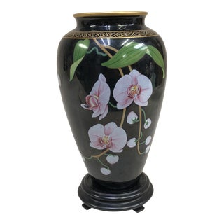 Japanese The Franklin Mint Oriental Porcelain Jardiniere - the Vase of the Fragrant Orchid For Sale