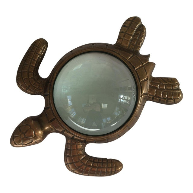 Nautical Turtle Magnifying Glass Paperweight For Sale - Image 3 of 3