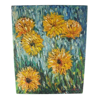 Impressionist Style Flower Painting For Sale