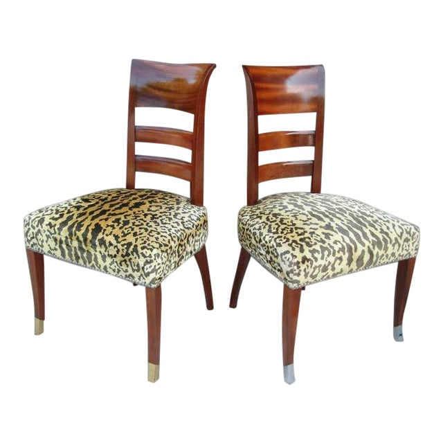 Set of Six French Art Deco Chairs in the Manner of Jean Pascaud For Sale