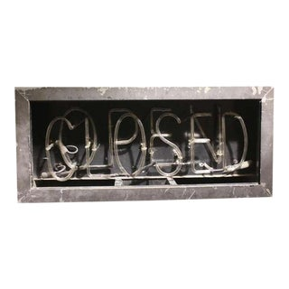 1930's Neon Open/Closed Sign For Sale