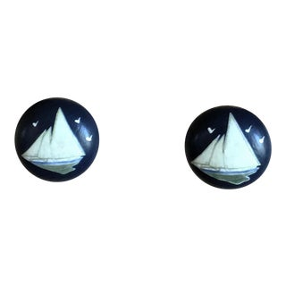 Sea Birds Decoupage Nautical Knobs - a Pair For Sale