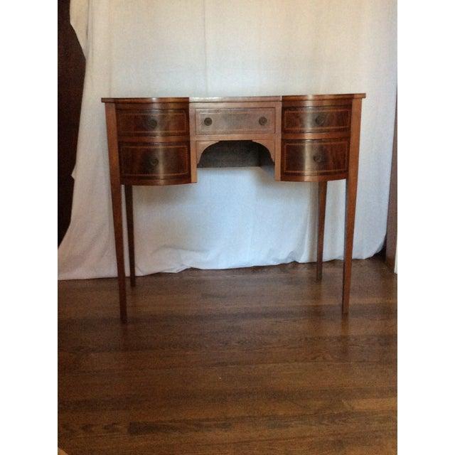 Hepplewhite Mahogany Inlay Desk For Sale - Image 13 of 13