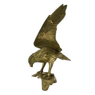 1960s Americana Brass Eagle Sculpture For Sale