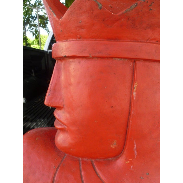 """Rare large oversized large art deco style chess piece knight advertising display sold as found unrestored """"AS IS"""" in..."""