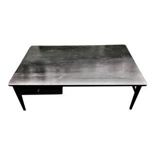 Mid Century Black Paul McCobb Like Coffee Table For Sale