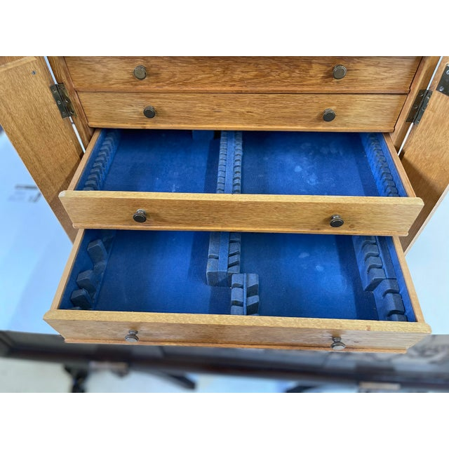 English Campaign Silver Flatware Chest For Sale - Image 9 of 13