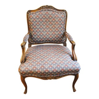Rococo Revival French Fauteuil For Sale